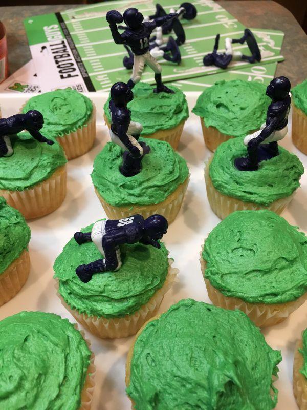 pixl football guy cupcakes